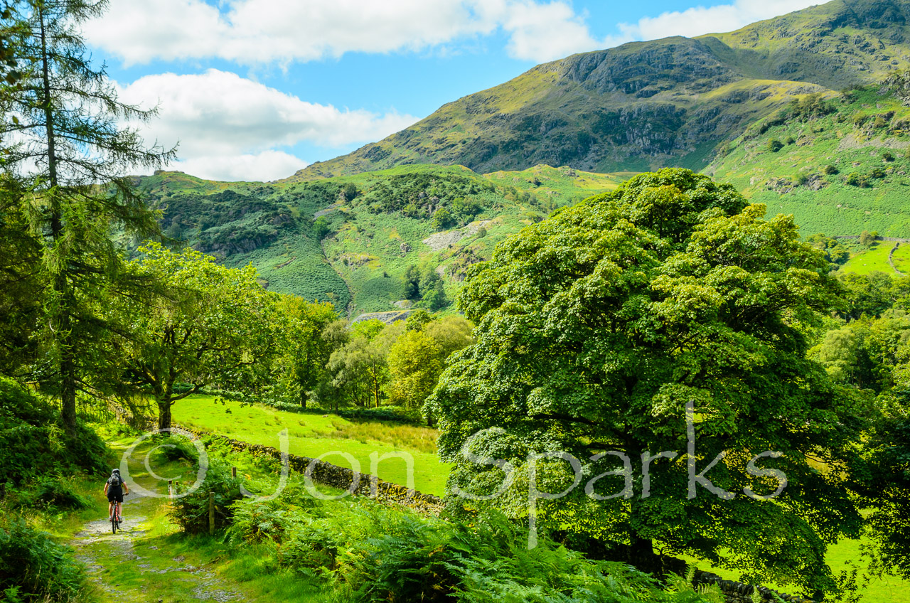 Dick's trail might have looked a bit like this (and that's High Topps, or Yewdale Fells, in the background)