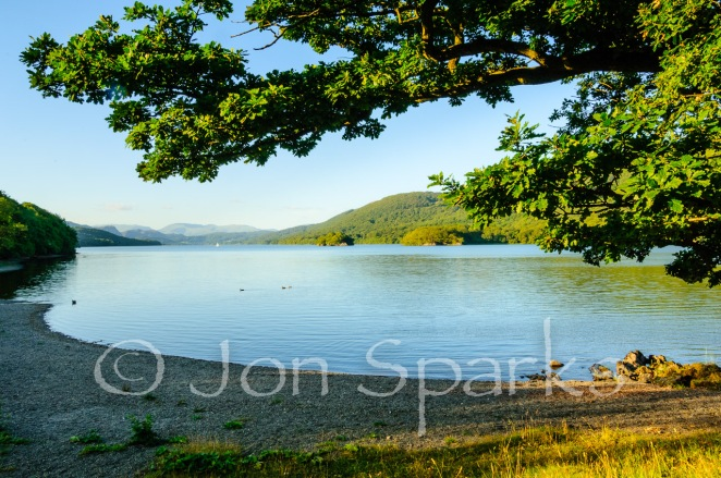Evening on Coniston Water, looking towards Peel Island