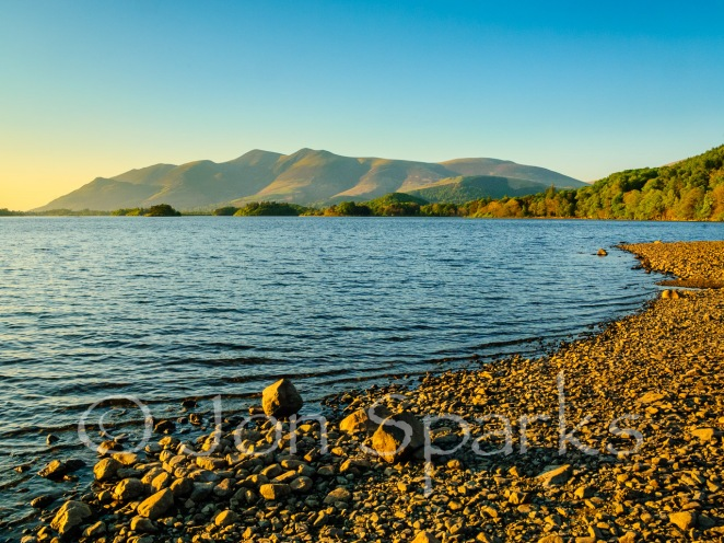 Skiddaw dominates the view down Derwent Water
