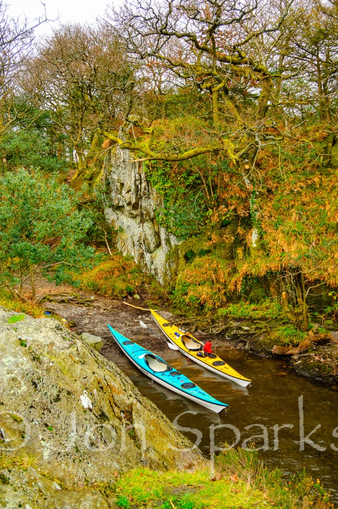 Kayaks in the secret harbour